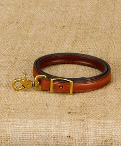 Brown Leather Nose Lead for Cattle with Brass fittings