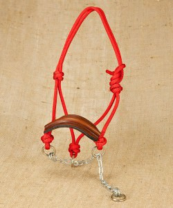 Chain hackamore with leather nose band