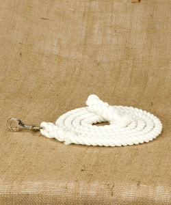 Cotton rope nose lead with Nickel Plated fittings