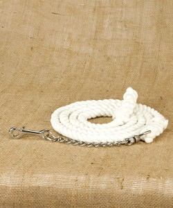 Cotton rope main lead with nickel plated fittings